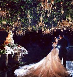 Lantern lit wedding