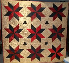 Missouri Quilt CO Big Star pattern with a different sashing