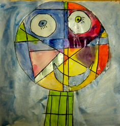 Paul Klee inspired faces plus children = happiness!