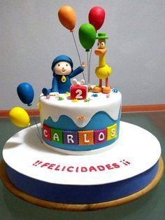 Pocoyo Cake | De Perla's | Tartas fondant personalizadas en Málaga