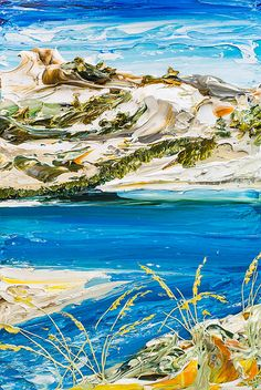 "24""x36"" - Acrylic on Canvas - Coastal Series- Artist, Justin Gaffrey"