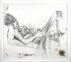 "#GlenInnes artist Heather Cowen is one of 14 regional artists to be auctioned at the Walsh Bay Arts Table, 11 November 2014  > Pictured is her large work in charcoal ""Lady In The Window"" > http://regionalartsnsw.com.au/2014/09/artworks-for-arts-table-2014-its-all-about-the-regions/"