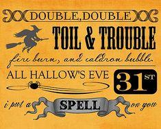 Love this Vintage Halloween Sign printable