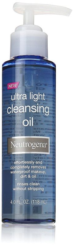 Neutrogena Ultra-Light Cleansing Oil, 4.0 Fluid Ounce * Startling review available here : Cleansers