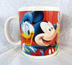 Walt Disney Fab Five Mug Mickey Minnie Goofy Pluto Donald Duck Coffee Tea Cup