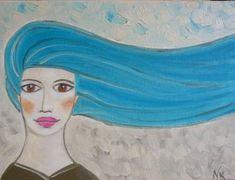 Turquoise hair girl