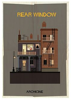 Rear Window Poster by Federico Babina | MONOQI #bestofdesign