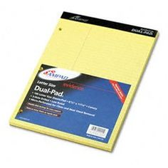 #Tops #Letr-Trim Perforated Top Letter Size Canary 50 Sheet Legal Pad 12 Pack #(7532)   great for price!   http://amzn.to/Hn2bSJ