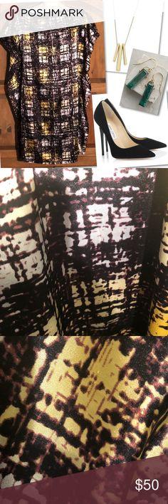 BCBG MAX AZRIA PRINT STRAIGHT SHIFT DRESS SZ L BCBG MAX AZRIA PRINT STRAIGHT SHIFT DRESS SZ L BCBGMaxAzria Dresses