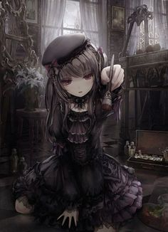 Anime Wallpaper - Only a collection of anime images that each chap about pictures # Fantasy # amreading - Dark Anime Girl, Gothic Anime Girl, Girls Anime, Anime Art Girl, Manga Girl, Gothic Lolita, Anime Angel, Ange Anime, Evil Anime