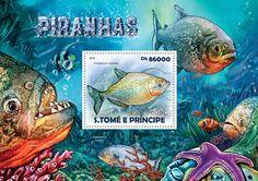 Post stamp São Tomé and Príncipe Piranhas (Pristobrycon striolatus)