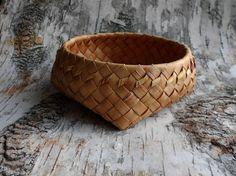 Plaited trinket basket Ecological gift idea Wicker by BirchBirds