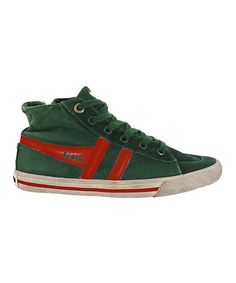 Take a look at this Green & Red Quiff Hi-Top Sneaker - Kids by Gola on #zulily today! $35 !!