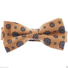 FLATSEVEN Mens Pre-Tied Casual Flower Pattern Bow Tie (YB013) #FLATSEVEN #BowTie