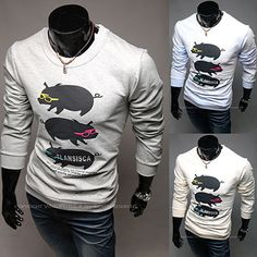 Pig and Sunglasses Crew Neck Sweatshirt . Shop Now At  http://sneakoutfitters.com/collections/new-in/products/ao-mbb-hb-b01-so38