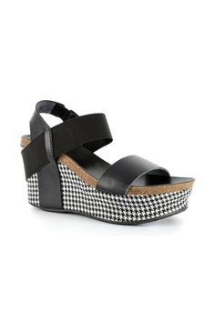 Corky's Houndstooth Wedge in Black #30-5229-BKHT *Choose Your Size