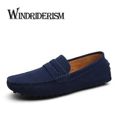 2b3bf9edf42b WINDRIDERISM New 2016 Men Genuine Leather Flats Fashion Men Casual Shoes  Moccasins Loafers Quality Suede Drivng Shoes Zapatos