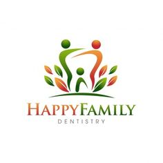 Exclusive Customizable Logo For Sale: Happy Family Dentistry