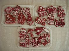 Gingerbread Decorations, Christmas Decorations, Honey Cake, Cookie Decorating, Christmas Cookies, Cookie Cutters, Ornament, Xmas, Sweets