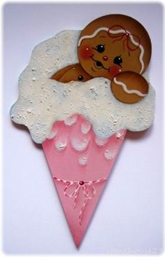 HP Gingerbread Snow Cone Fridge Magnet