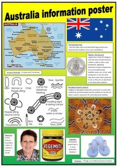 FREE These 2 posters contain simple information about Australia to support learning more about my beautiful country!These posters can be used for displays in the classroom.The pictures have been obtained using 'google' images.