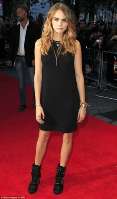 Model behaviour! She posed up a storm at the Odeon in London's West End on Saturday
