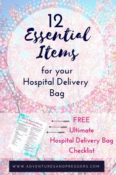Ultimate List of Essential Items for Hospital Delivery- 12 Essential Items for your Hospital Delivery Bag + FREE Ultimate Hospital Delivery Bag Checklist - Dont forget a thing when its time to head to the hospital. Some common and some untold treasures, y