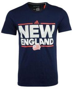 adidas Men's New England Revolution City Name Performance T-Shirt - Blue XL