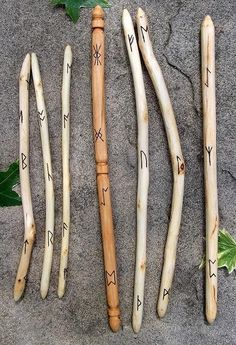Blackthorn divination saxon wands by WytchenWood