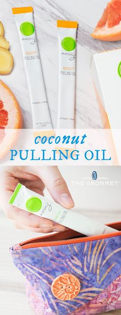 """Fresher, tidier """"oil pulling""""—the practice of swishing coconut oil to clean away toxins in your mouth. These packets make it easy and refreshing."""