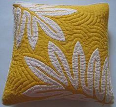 Amazon.com - 2 Hawaiian Quilt Pillow Covers, Cushions, 100% Hand Quilted/hand Appliqued 18""