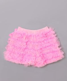 Take a look at this Pink Ruffle Tutu Shorts - Toddler  by Mia Belle Baby on #zulily today!