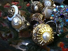 #vintagebuttons turned into #rings