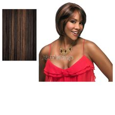 Vivica Fox Handmade Collection Celia - Color FS4/30 - Synthetic (Curling Iron Safe) Hand-Tied Wig