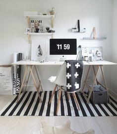 Workspace and home office inspiration. Home Office Inspiration, Workspace Inspiration, Interior Inspiration, Office Ideas, Office Inspo, Desk Ideas, Workspace Design, Office Workspace, Home Office Space