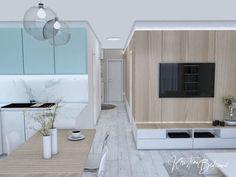 Modrá ako vítané osvieženie - Kristína Bedečová Living Room Kitchen, Garage Doors, Outdoor Decor, Bratislava, House, Home Decor, Decoration Home, Home, Room Decor