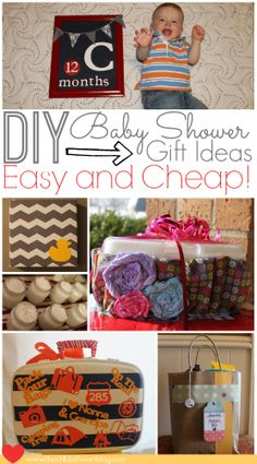 Easy and Cheap Baby Shower DIY Gift Ideas #baby
