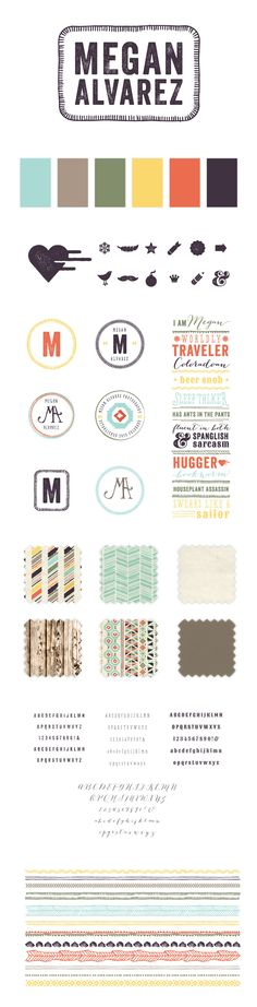 I love this logo board and how Braizen Design showed all of the graphic elements that go into creating an identity. (Megan Alvarez Brand Board)
