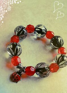 Hey, I found this really awesome Etsy listing at https://www.etsy.com/listing/231362748/girls-lady-bug-bracelet-toddler-chunky