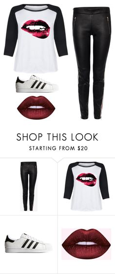 """""""Lips So Good I Forget My Name"""" by beccastylesxoxo on Polyvore featuring Alexander McQueen, LC Trendz, adidas Originals and plus size clothing"""