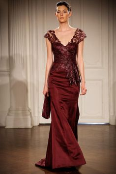 Photo: Thomas Concordia/Getty Images Bordeaux at Peter Langner A snowy backdrop would be divine for this rich look