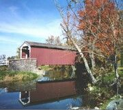 Erb's Mill covered bridge in Lititz, Pa