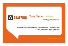 Staffing Leave Behind Card