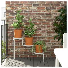 IKEA - PS 2014 Plant stand indoor/outdoor white, white