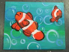 Clown Fish painting by Lauren Luna  www.artistaluna.com