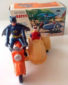 Batman Robin Batcycle Box 1960s Lincoln New Zealand Battery Operated | eBay