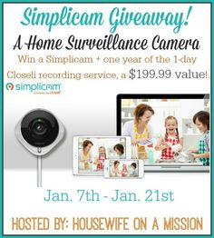 Win a Simplicam Camera, plus a year service of 1-day recording – Ends 1/21