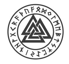 ⁉ Viking Symbols: Valknut ✨The Valknut's three interlocking shapes are suggestive of Celtic symbols of motherhood and rebirth. ✨So it may have been a goddess symbol at some point in history. ✨The nine points may suggest rebirth, pregnancy, and cycles of reincarnation. The number nine is also related to the Nine Worlds (and the nine fates) Odin Symbol, Viking Tattoo Symbol, Norse Tattoo, Viking Tattoos, Inca Tattoo, Tattoo Celtic, Nordic Symbols, Pagan Symbols, Symbols And Meanings