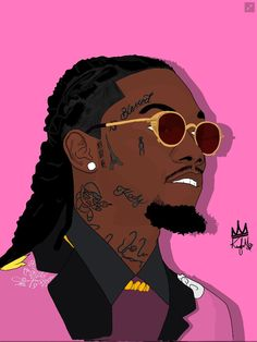 Art by kabiartista. Art by kabiartista. Migos Wallpaper, Rap Wallpaper, Cartoon Wallpaper, Dope Cartoon Art, Dope Cartoons, Cartoon Kunst, Savage Wallpapers, Dope Wallpapers, Arte Do Hip Hop