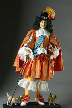 King Charles II by George Stuart-google him & watch the videos attached to the British royalty dolls-excellent!